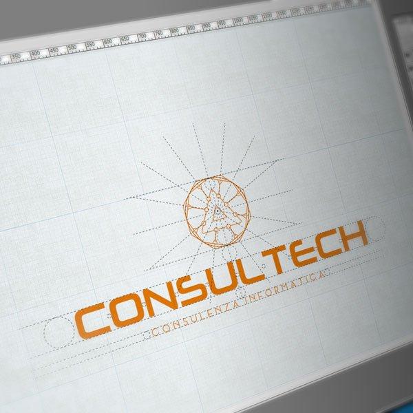 Logo Consultech Costruzione • Claudio Troisi Grafico Roma
