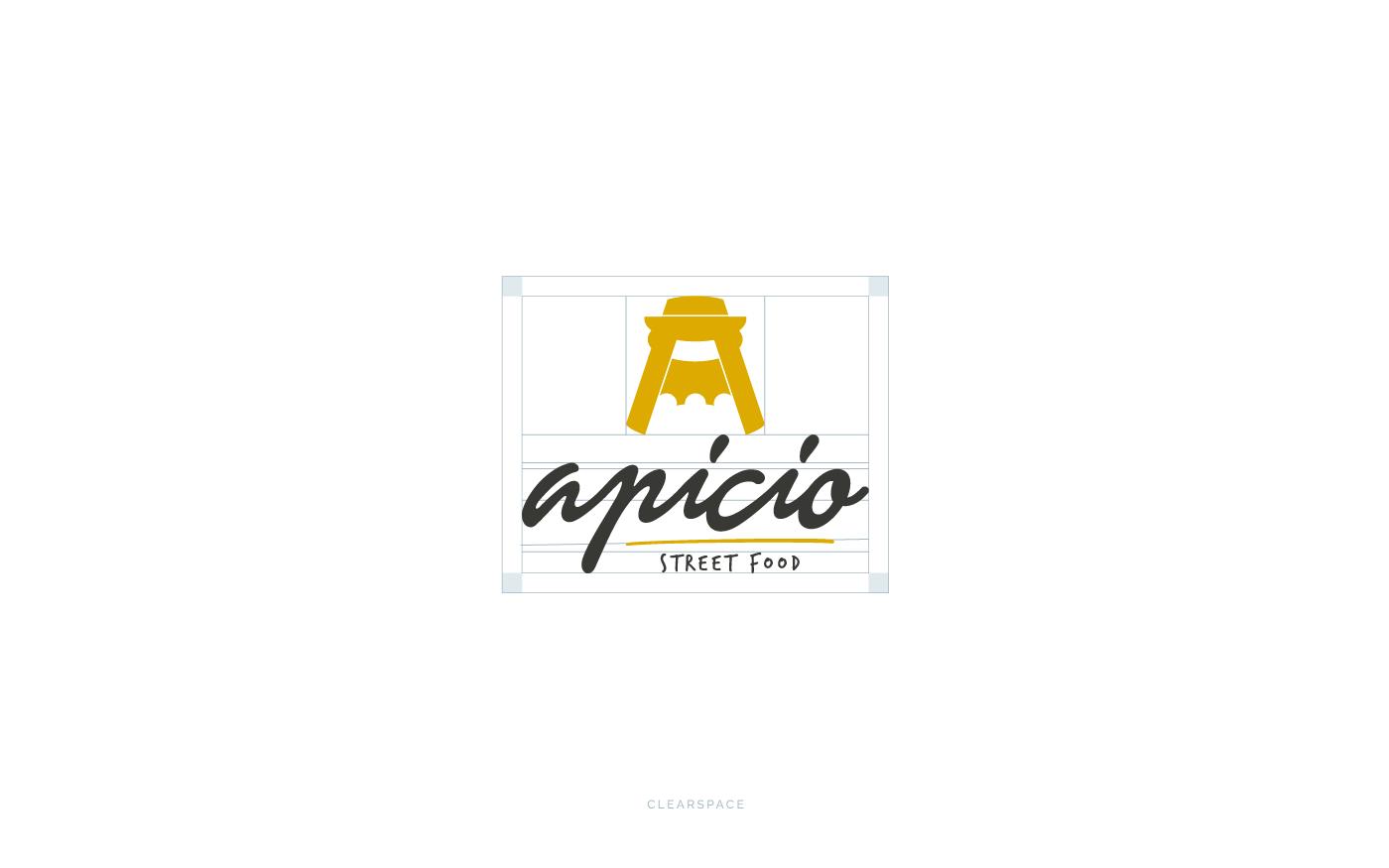 Apicio Street Food Logo Clearspace