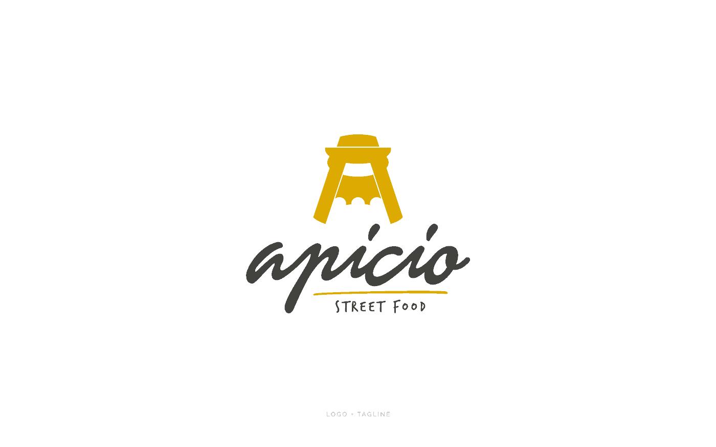 Apicio Street Food Roma Logo Tagline