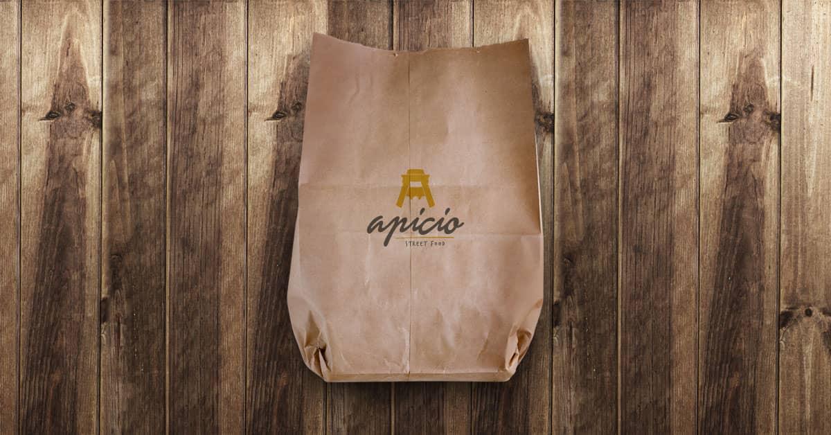 Logo Apicio Street Food Roma Social Share