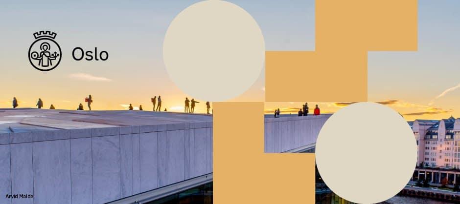 Oslo Comune composizioni grafiche
