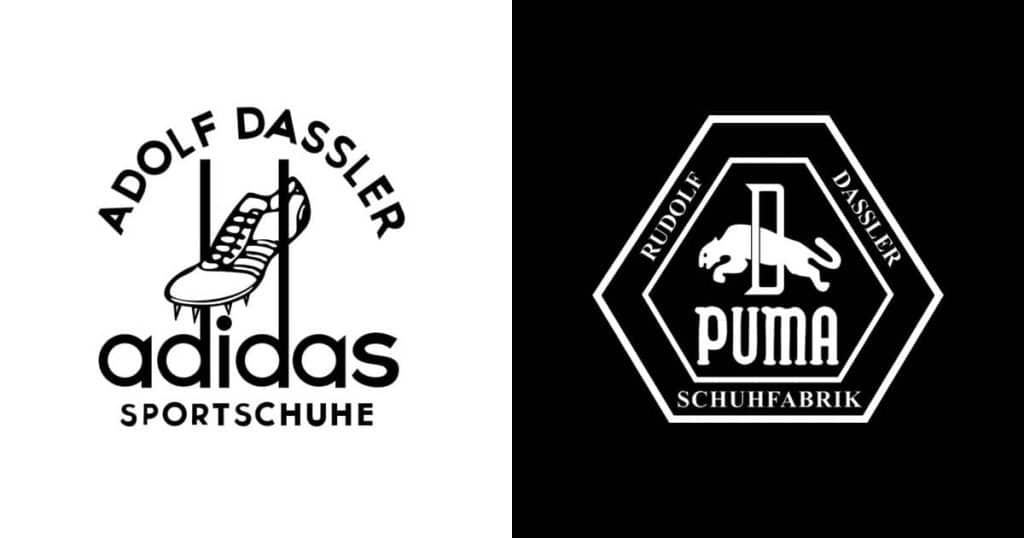 Adidas Puma Logos